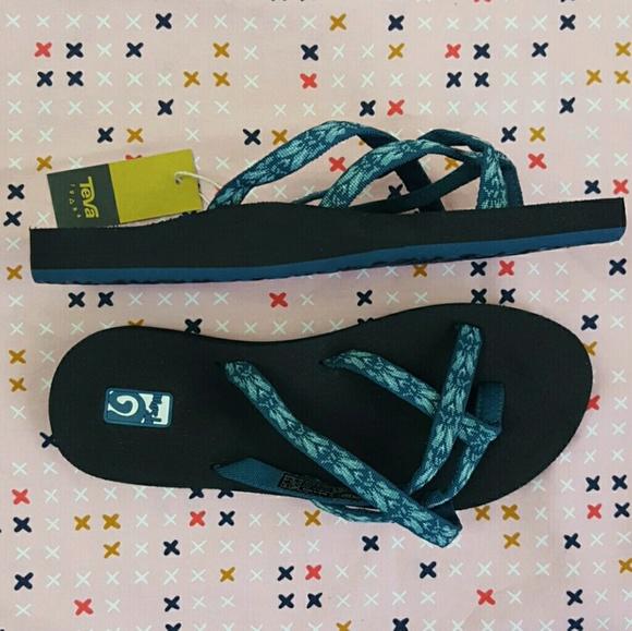 c57c832dc30db Teva Olowahu Flip Flops In Hazel Blue